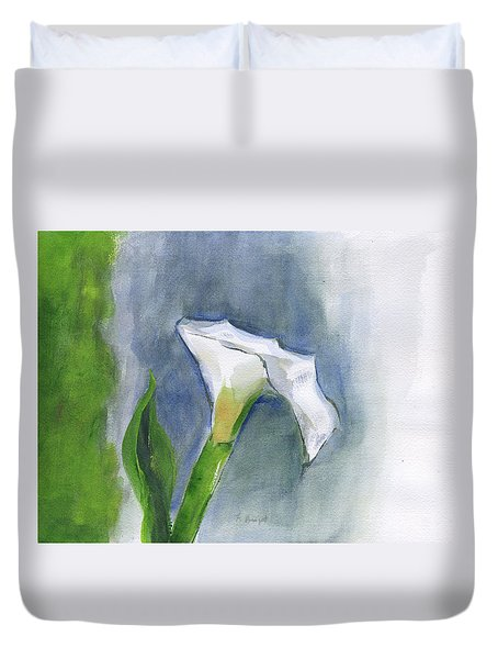 Calla Lily Duvet Cover by Frank Bright