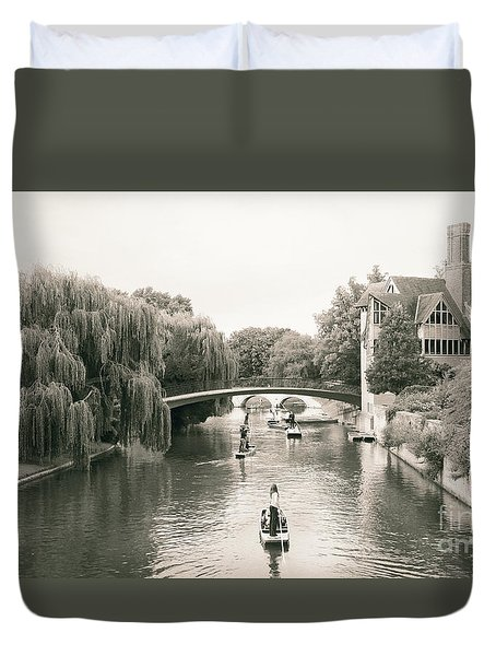 Cambridge River Punting Duvet Cover