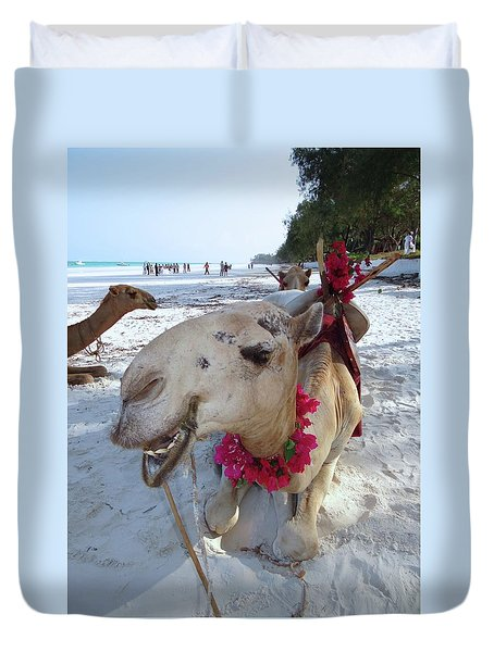 Camel On Beach Kenya Wedding3 Duvet Cover
