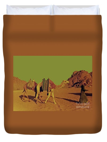 Camel Ride Duvet Cover