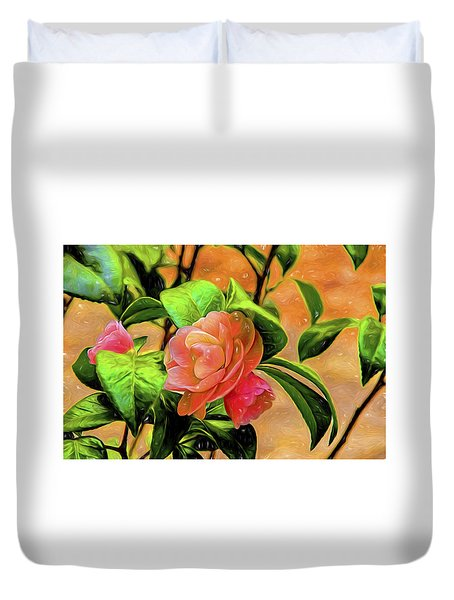 Camellia Candy Duvet Cover