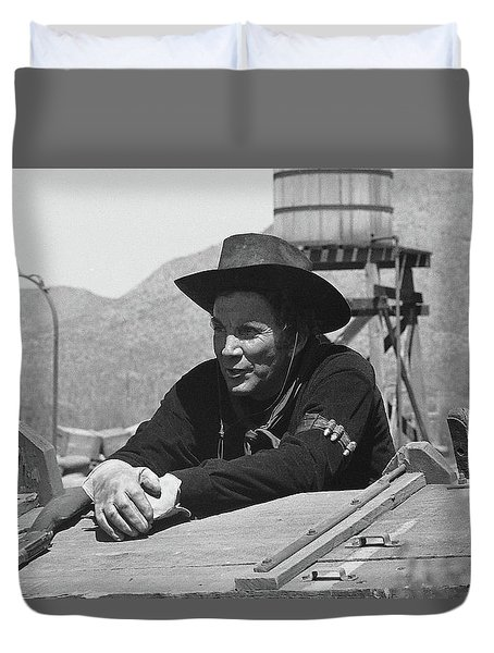 Cameron Mitchell The High Chaparral Set Old Tucson Arizona 1969 Duvet Cover