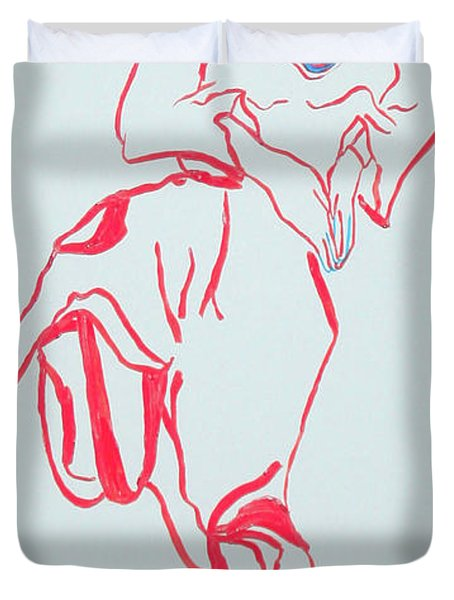 Cameroon Ngone Traditional Dance Duvet Cover