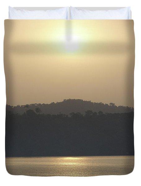 Cameroon Sunrise Africa Duvet Cover