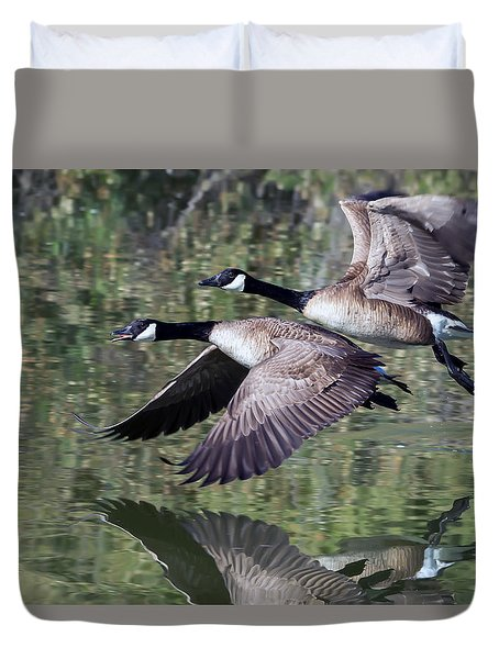 Canada Geese Duvet Cover by Tam Ryan