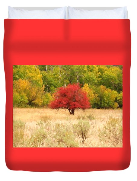 Canadian Autumn Duvet Cover by Kathy Bassett