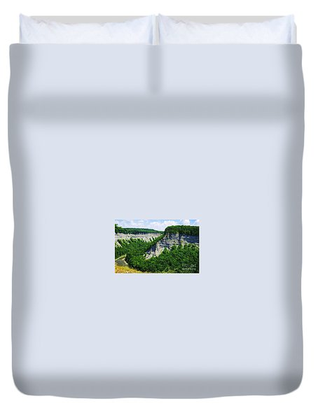 Duvet Cover featuring the photograph Canyon  by Raymond Earley