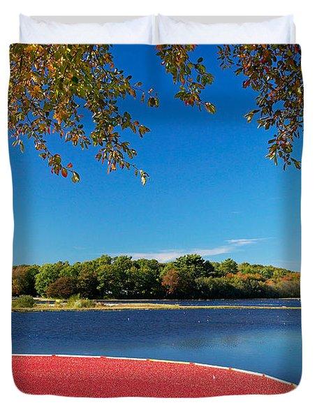 Cape Cod Cranberry Bog Duvet Cover by Matt Suess