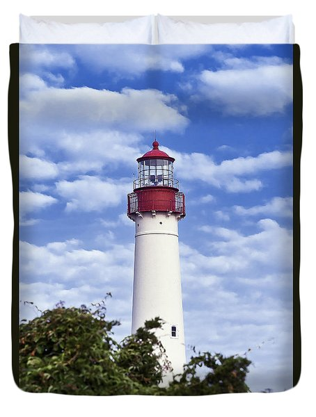 Cape May Lighthouse Duvet Cover by John Greim