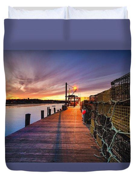 Cape Porpoise Duvet Cover by Robert Clifford