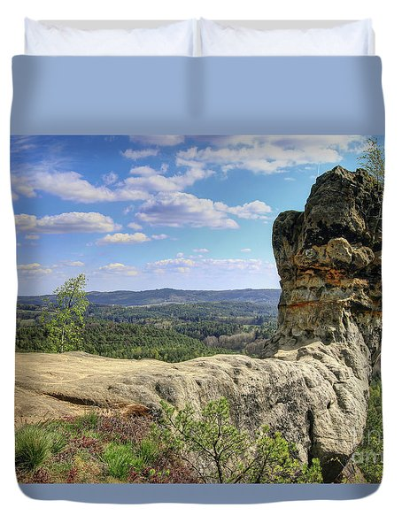 Capska Cudgel - Rock Formation Duvet Cover by Michal Boubin