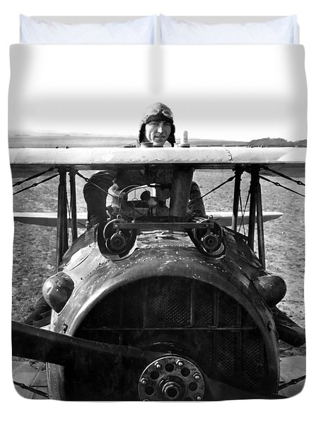 Captain Eddie Rickenbacker  Duvet Cover by War Is Hell Store