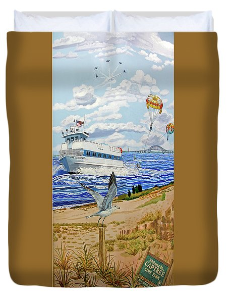 Captree Park Duvet Cover