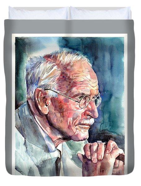 Carl Gustav Jung Portrait Duvet Cover