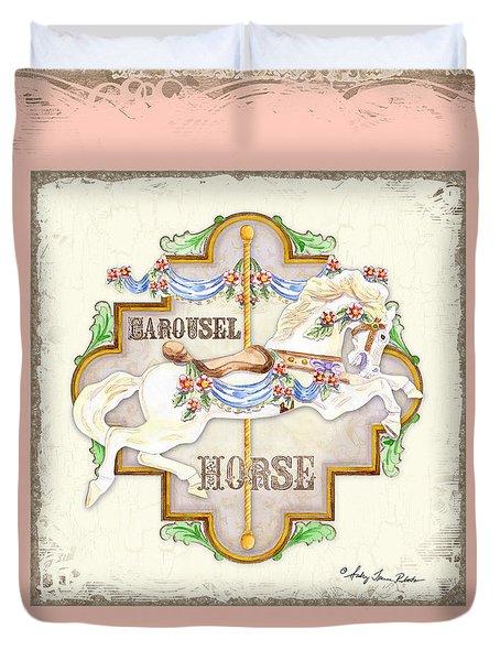 Carousel Dreams - Horse Duvet Cover