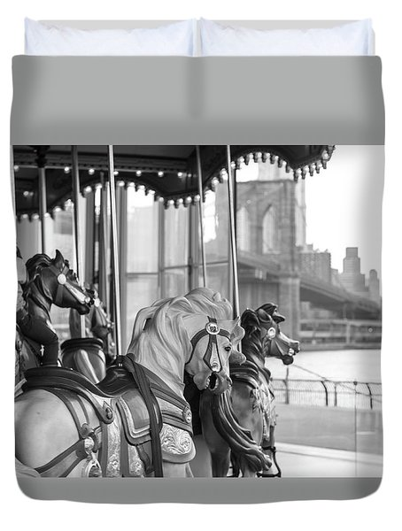 Carrousel Nyc Duvet Cover