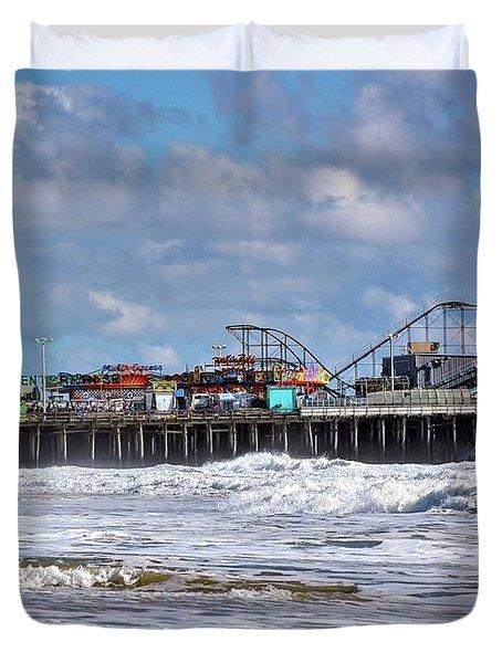Casino Pier, Seaside Heights Nj Duvet Cover