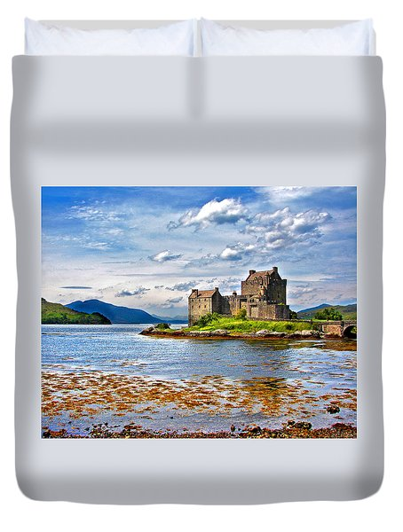 Castle In The Loch Duvet Cover