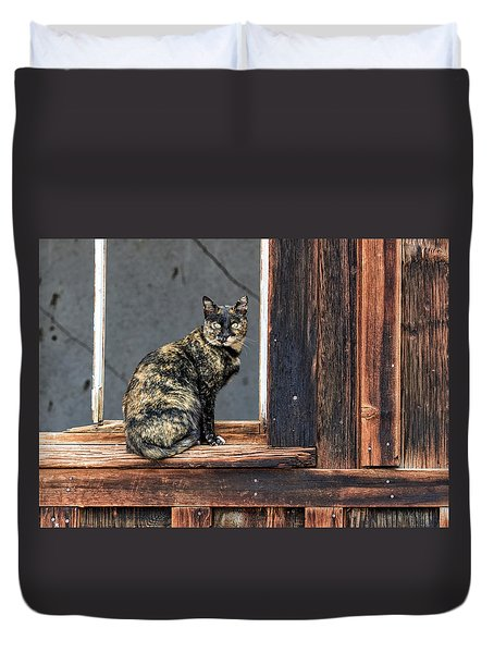 Cat In A Window Duvet Cover