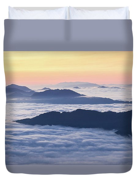 Cataloochee Valley Sunrise Duvet Cover by Serge Skiba