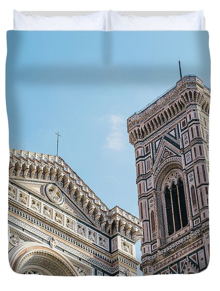Cattedrale Di Santa Maria Del Fiore Is The Main Church Of Floren Duvet Cover