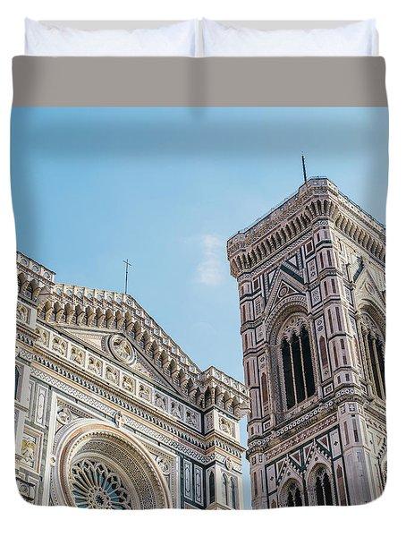 Cattedrale Di Santa Maria Del Fiore Is The Main Church Of Floren Duvet Cover