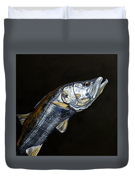 Caught In The Surf Snook Duvet Cover