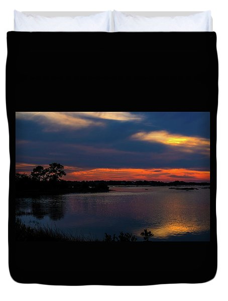 Duvet Cover featuring the photograph Ceader Key Florida  by Louis Ferreira