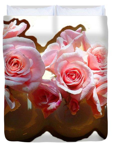 Cecile Brunner Roses Duvet Cover