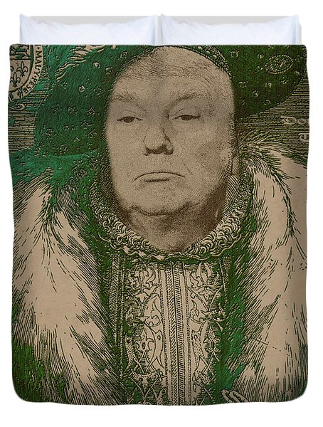 Celebrity Etchings - Donald Trump Duvet Cover by Serge Averbukh
