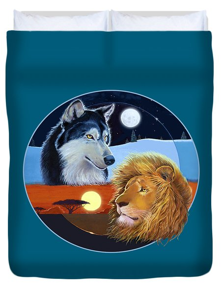 Celestial Kings Circular Duvet Cover by J L Meadows