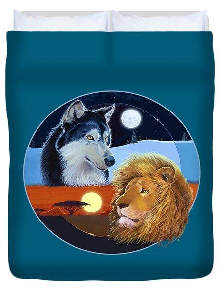 Celestial Kings Circular Duvet Cover