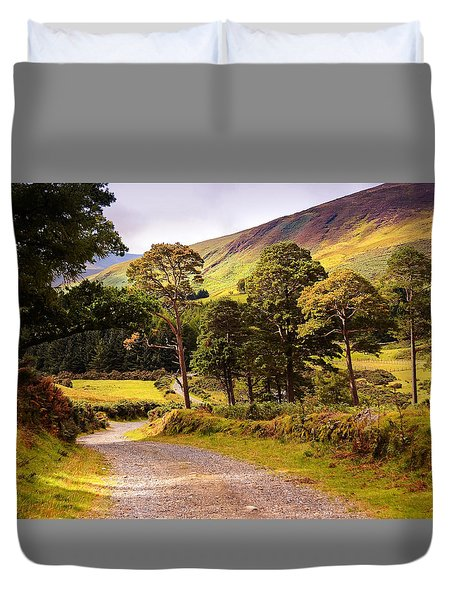 Celtic Spirit. Wicklow Mountains. Ireland Duvet Cover by Jenny Rainbow