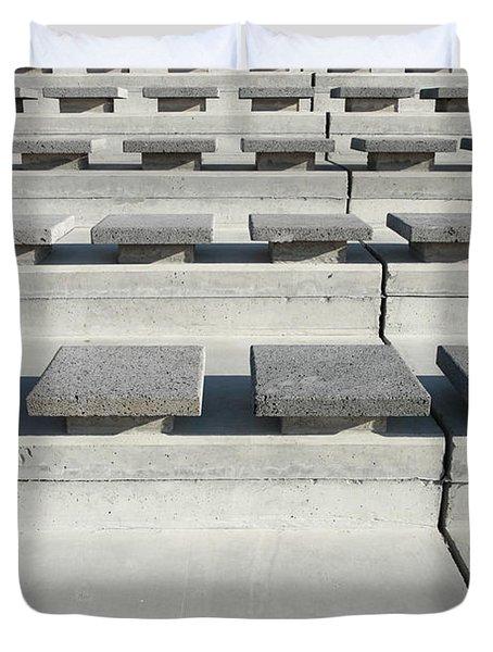 Cement Seats Duvet Cover by Gaspar Avila
