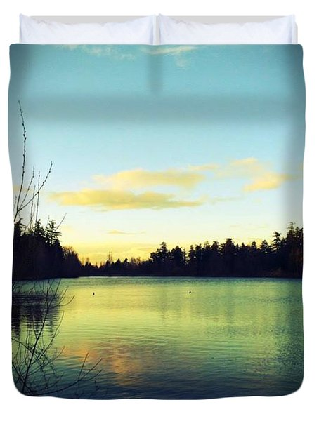 Center Of Peace Duvet Cover