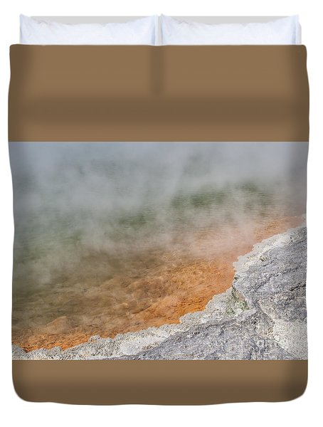 Champagne Pool, New Zealand Duvet Cover by Patricia Hofmeester