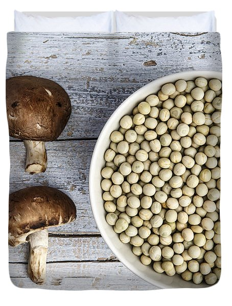 Champignons, Peas And Pepper Duvet Cover