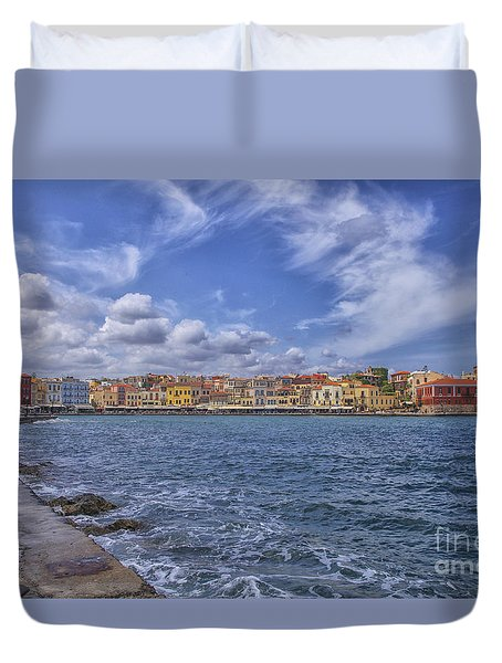 Chania On Crete In Greece Duvet Cover by Patricia Hofmeester