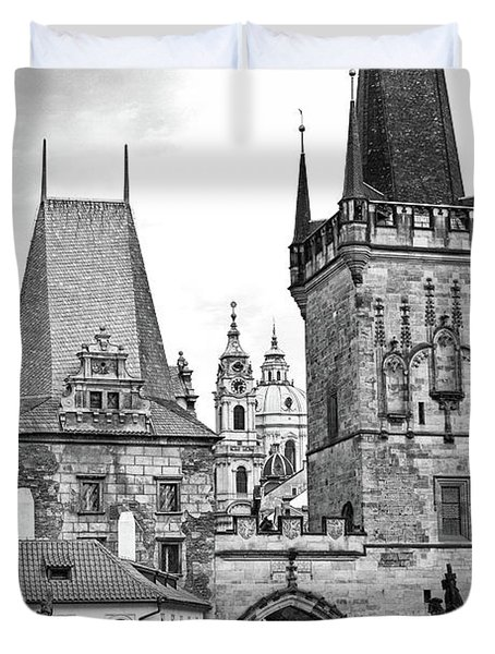 Charles Bridge, Prague Duvet Cover