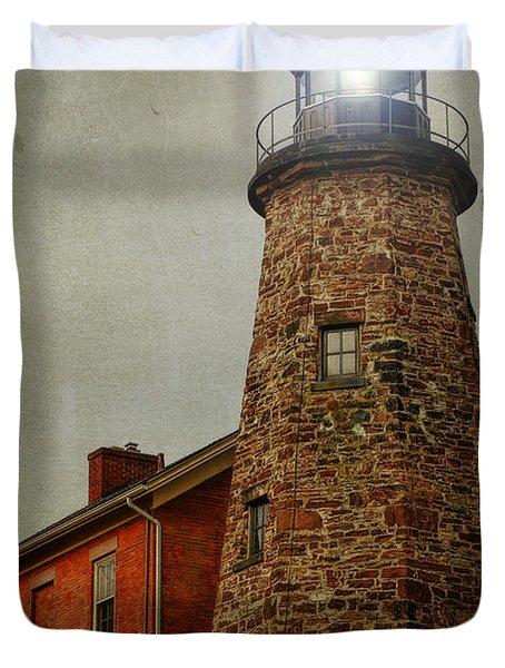 Charlotte Genesee Lighthouse Duvet Cover by Joel Witmeyer