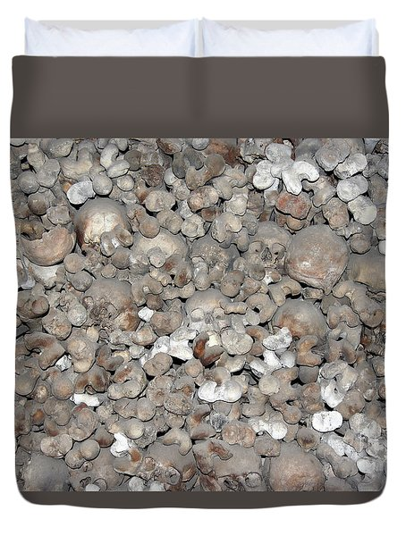 Duvet Cover featuring the photograph Charnel House by Michal Boubin