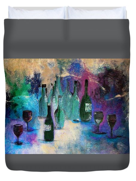 Duvet Cover featuring the painting Cheers by Lisa Kaiser