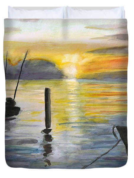 Chesapeake Sunset Duvet Cover
