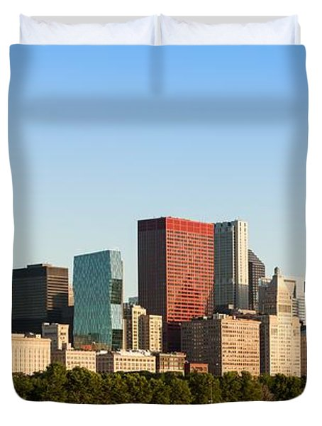 Chicago Downtown At Sunrise Duvet Cover