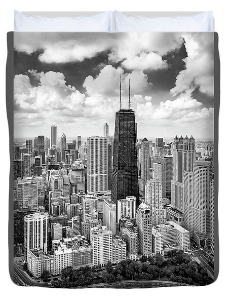 Duvet Cover featuring the photograph Chicago's Gold Coast by Adam Romanowicz