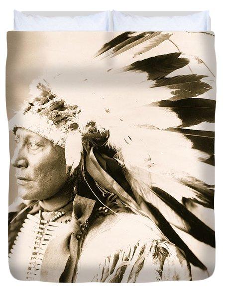 Chief Hollow Horn Bear Duvet Cover