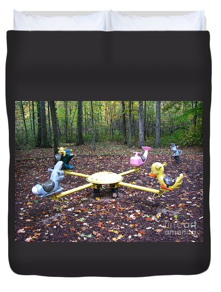 Childhood Memories Duvet Cover