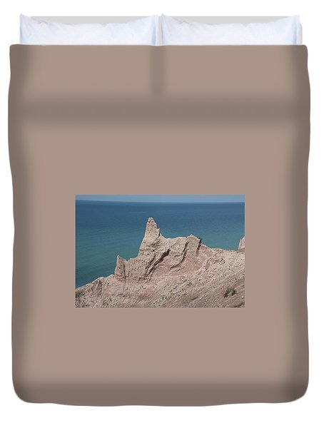 Chimney Bluffs Duvet Cover