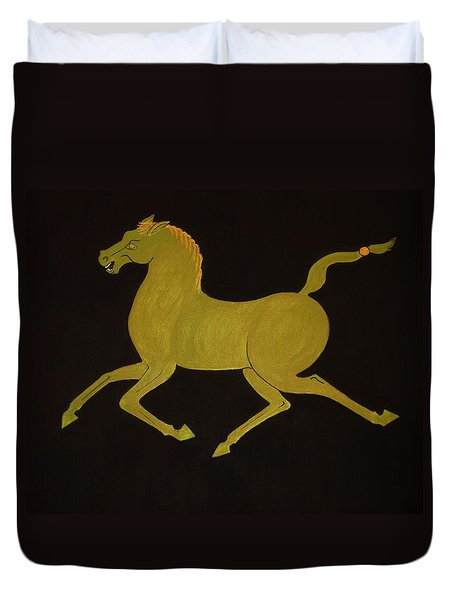 Chinese Horse #2 Duvet Cover by Stephanie Moore
