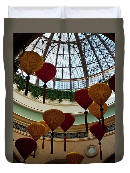 Chinese Lanterns Duvet Cover by Rae Tucker